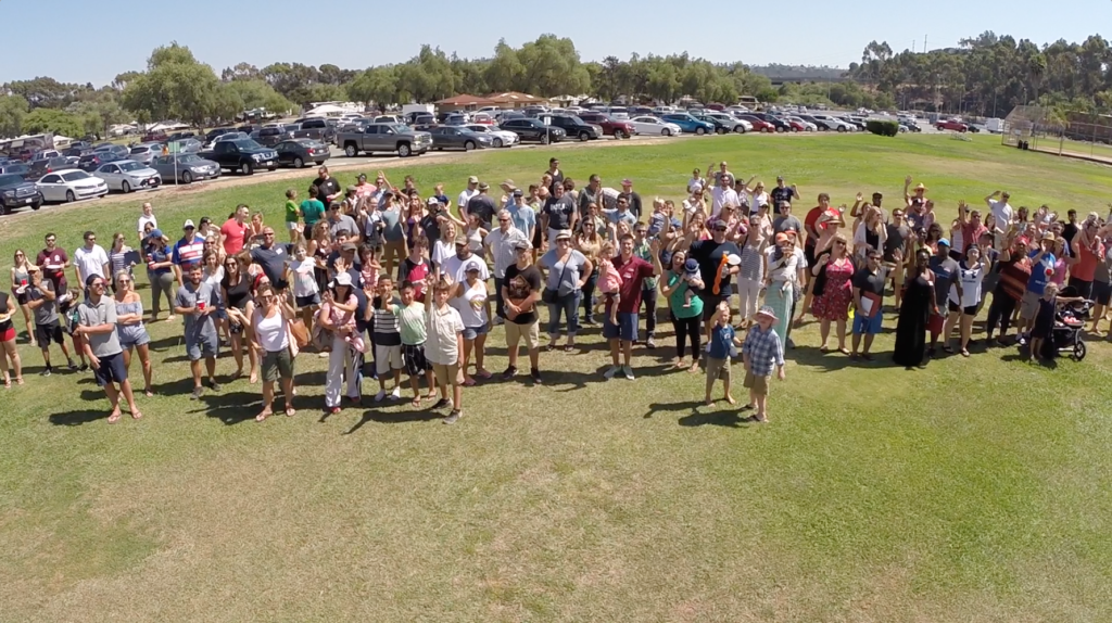 San Diego Field Day photo with employees